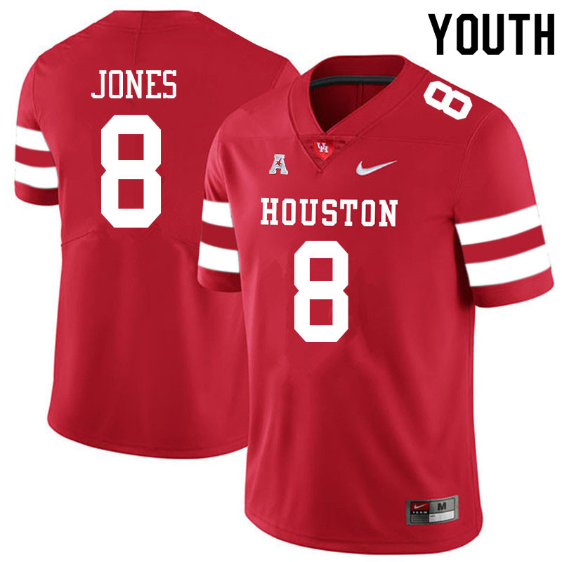Youth #8 Marcus Jones Houston Cougars College Football Jerseys Sale-Red
